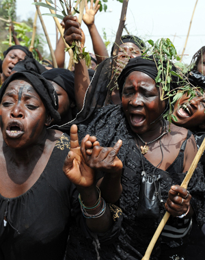 Mother protesting in Jos, Nigeria