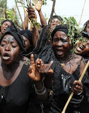 Mother protesting in Jos, Nigeria